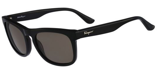 Salvatore Ferragamo Black Rectangle Feline Sunglasses