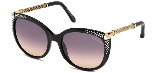 Roberto Cavalli Tania Crystal-Tipped Butterfly Sunglasses