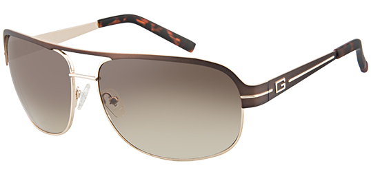 Guess GU 6790 Mens Aviator Full Rim Sunglasses (Brown Gold)