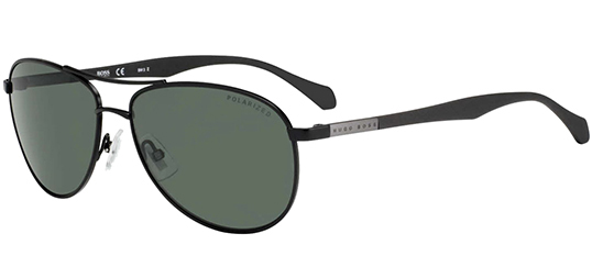 d89fb49e59 Hugo Boss Polarized Stainless Steel Aviator Sunglasses - Eyedictive