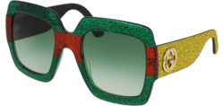 1e800a3efaa Gucci Squared Oversize w  Glitter Encrusted Detail