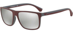 330fd40cd5 Men s Emporio Armani Bordeaux w  Silver Flash Lens