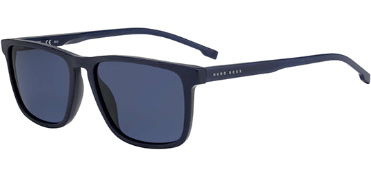 9bbda13ada Hugo Boss Polarized Striped Blue Classic Sunglasses - Eyedictive