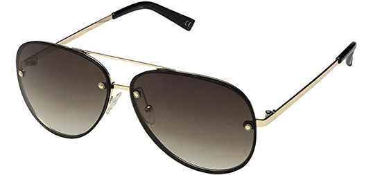 Le Specs Hyperspace Women's Aviator Sunglasses with Gradient Lens