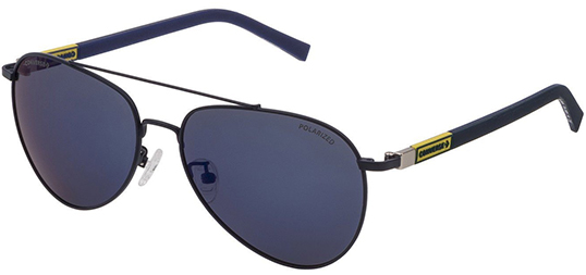 Converse Polarized Aviator Sunglasses with Rubberized Temples (Navy/Blue)