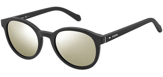 Fossil Men'S Vintage Style Round with Gold Flash Lens