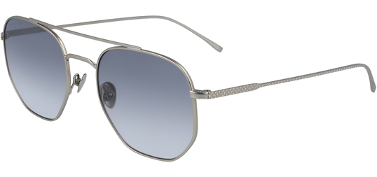 Eyedictive Men's Lacoste Geometric Aviator with Textured Pique Temples