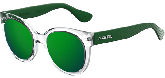 Eyedictive Women's Havaianas Noronha Rounded Cat Eye With Mirror Lens